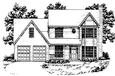 3-Bedroom, 1989 Sq Ft Traditional Home Plan - 124-1049 - Main Exterior