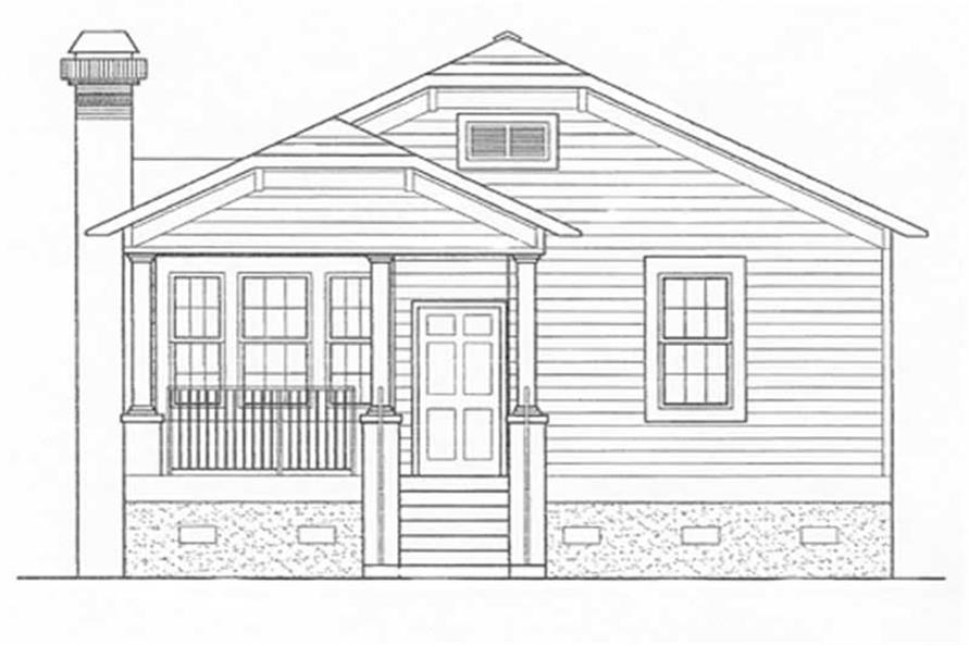 Home Plan Front Elevation of this 3-Bedroom,1428 Sq Ft Plan -124-1054