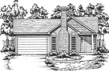 3-Bedroom, 1362 Sq Ft Ranch Home Plan - 124-1055 - Main Exterior