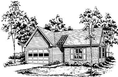 3-Bedroom, 1245 Sq Ft Ranch Home Plan - 124-1060 - Main Exterior