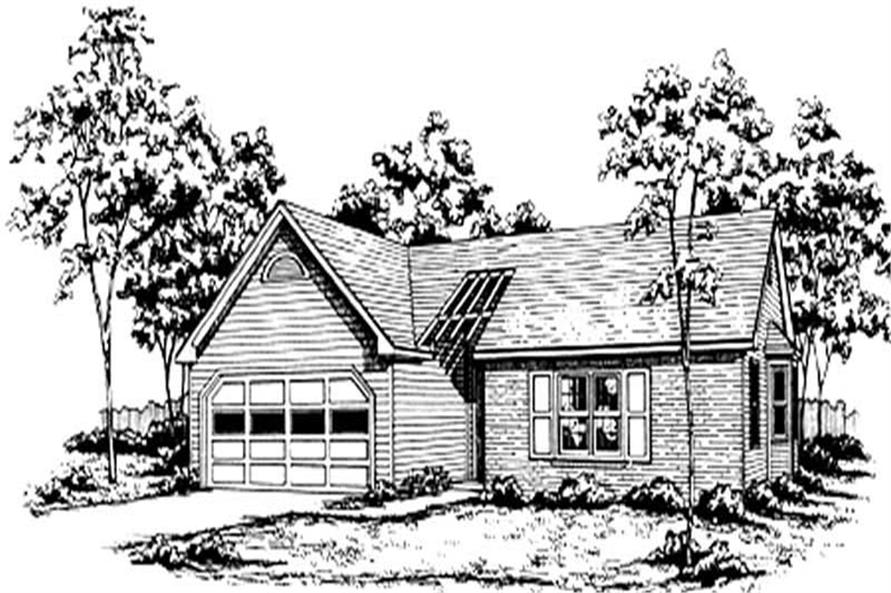 3-Bedroom, 1245 Sq Ft Ranch Home Plan - 124-1060 - Main Exterior