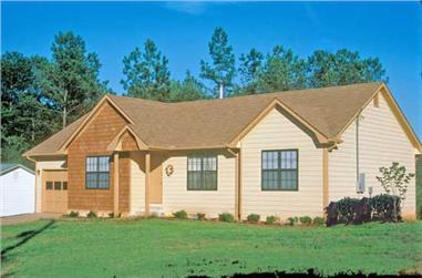 3-Bedroom, 1141 Sq Ft Ranch House Plan - 124-1061 - Front Exterior