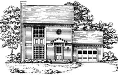 2-Bedroom, 1265 Sq Ft Country House Plan - 124-1063 - Front Exterior