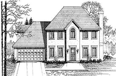 3-Bedroom, 2104 Sq Ft European House Plan - 124-1064 - Front Exterior