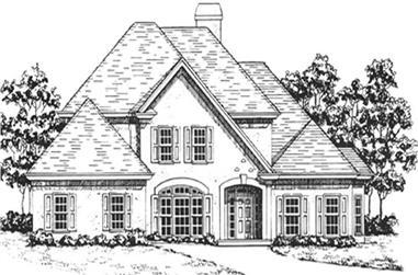 4-Bedroom, 3008 Sq Ft European Home Plan - 124-1065 - Main Exterior