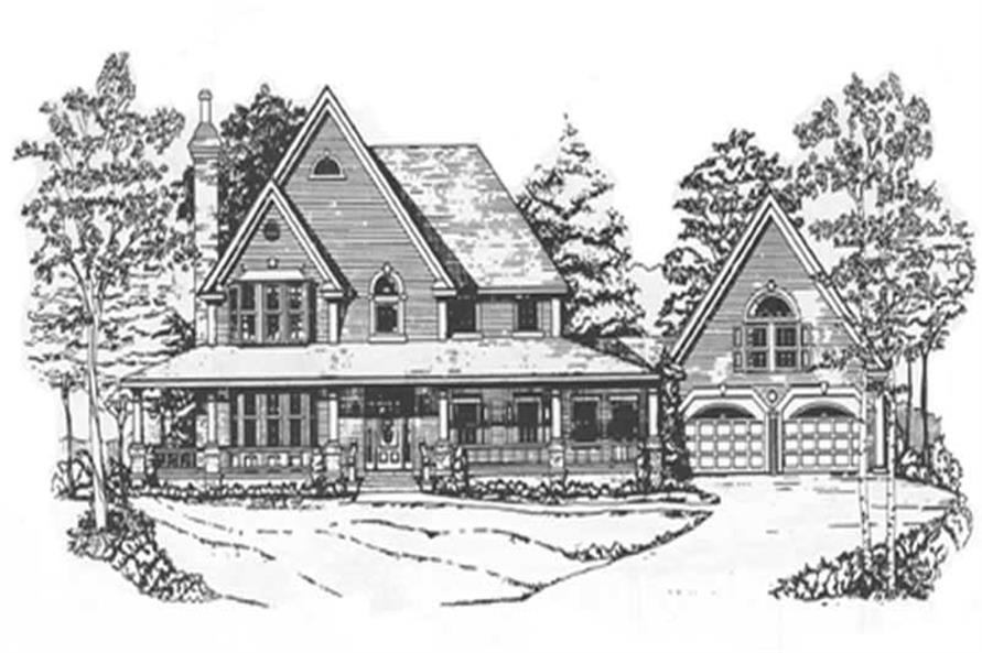 4-Bedroom, 3294 Sq Ft Victorian Home Plan - 124-1066 - Main Exterior