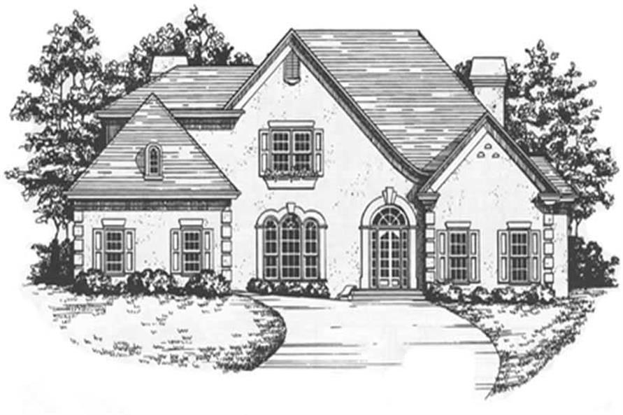 4-Bedroom, 3501 Sq Ft European Home Plan - 124-1067 - Main Exterior