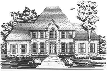 4-Bedroom, 4069 Sq Ft European Home Plan - 124-1068 - Main Exterior