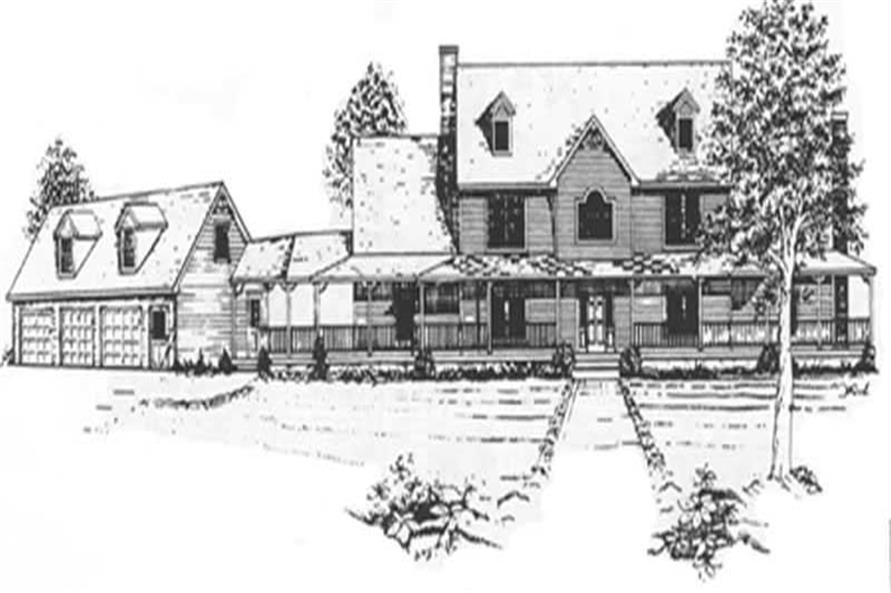 4-Bedroom, 4247 Sq Ft Farmhouse Home Plan - 124-1069 - Main Exterior