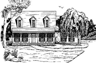 3-Bedroom, 1715 Sq Ft Country Home Plan - 124-1071 - Main Exterior