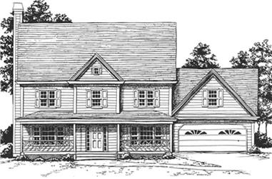 4-Bedroom, 2716 Sq Ft Country House Plan - 124-1072 - Front Exterior