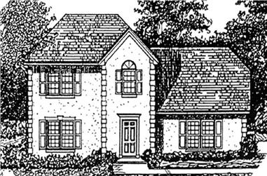 3-Bedroom, 1880 Sq Ft Country Home Plan - 124-1073 - Main Exterior