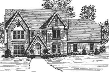 3-Bedroom, 2683 Sq Ft European House Plan - 124-1074 - Front Exterior