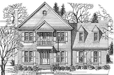 4-Bedroom, 2442 Sq Ft Colonial House Plan - 124-1076 - Front Exterior