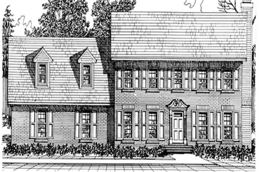 4-Bedroom, 2342 Sq Ft Colonial House Plan - 124-1077 - Front Exterior