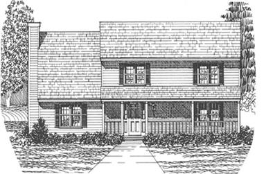 3-Bedroom, 2186 Sq Ft Country Home Plan - 124-1078 - Main Exterior