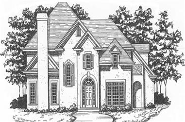 4-Bedroom, 3326 Sq Ft Contemporary Home Plan - 124-1079 - Main Exterior