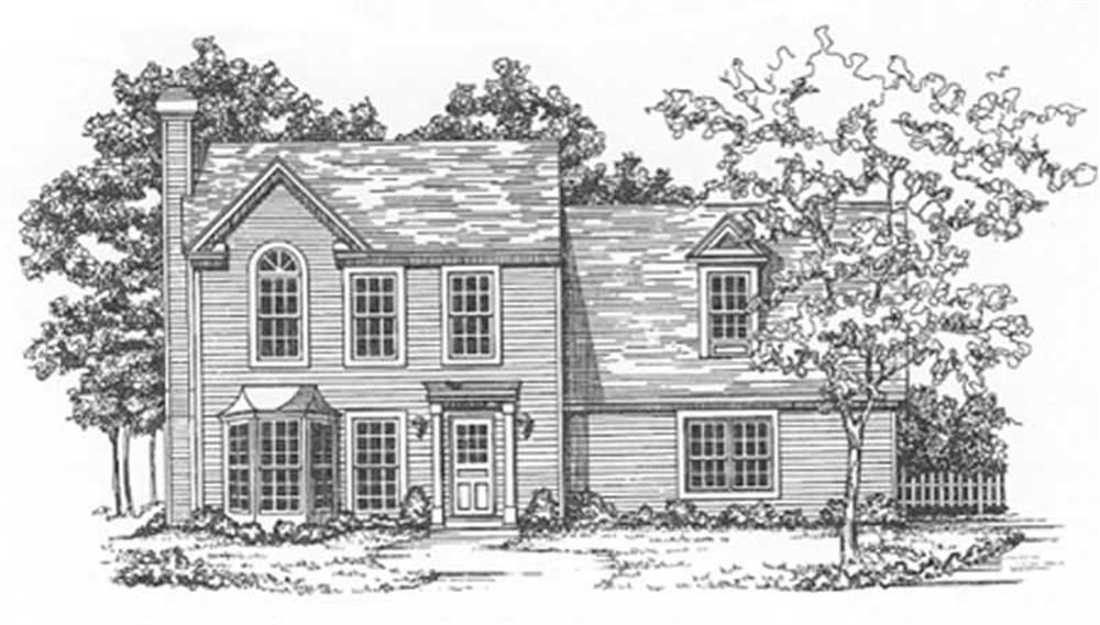 Colonial home (ThePlanCollection: Plan #124-1081)
