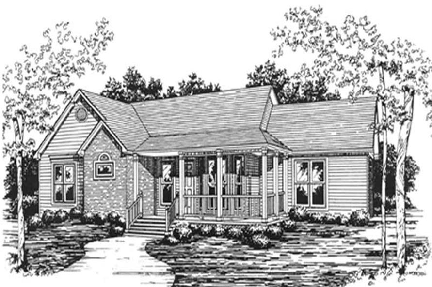3-Bedroom, 1492 Sq Ft Ranch Home Plan - 124-1084 - Main Exterior
