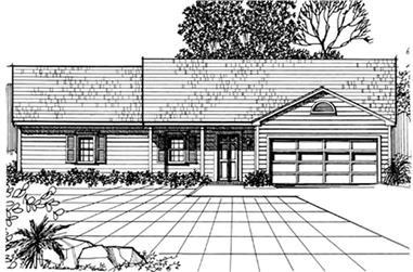 3-Bedroom, 1504 Sq Ft Ranch Home Plan - 124-1085 - Main Exterior