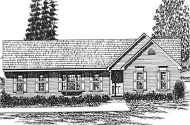 3-Bedroom, 1690 Sq Ft Ranch Home Plan - 124-1087 - Main Exterior
