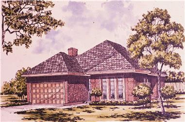 3-Bedroom, 1681 Sq Ft Bungalow Home Plan - 124-1088 - Main Exterior