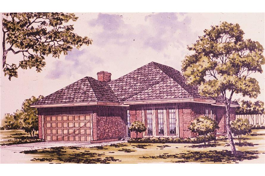 3-Bedroom, 1681 Sq Ft Bungalow Home Plan - 124-1088 - Main Exterior