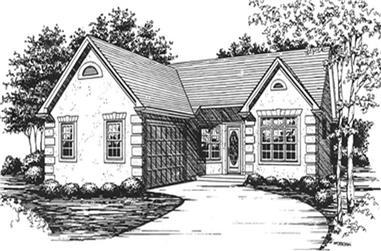 3-Bedroom, 1488 Sq Ft Ranch Home Plan - 124-1090 - Main Exterior