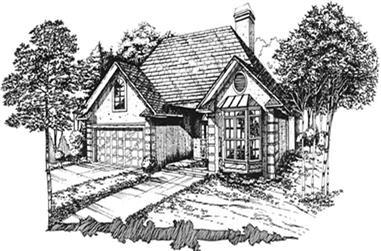 1-Bedroom, 1736 Sq Ft Coastal House Plan - 124-1091 - Front Exterior