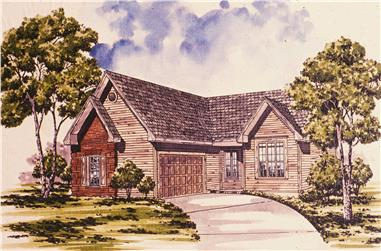 3-Bedroom, 1488 Sq Ft Ranch Home Plan - 124-1092 - Main Exterior