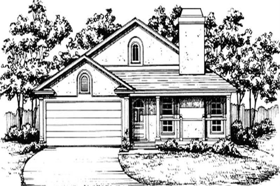 Main image for house plan # 7455