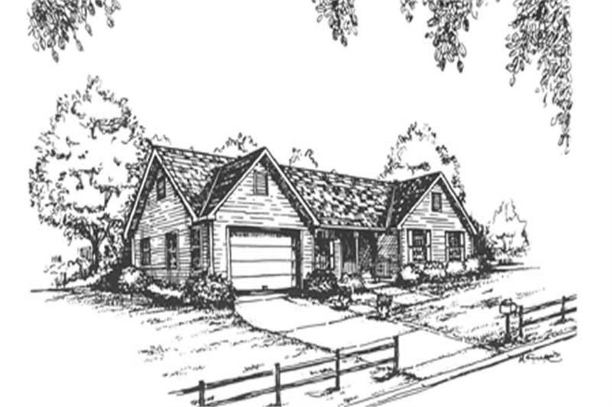 3-Bedroom, 1864 Sq Ft Country Home Plan - 124-1095 - Main Exterior