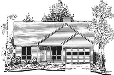 3-Bedroom, 1911 Sq Ft Ranch Home Plan - 124-1096 - Main Exterior