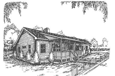 3-Bedroom, 1955 Sq Ft Country Home Plan - 124-1098 - Main Exterior