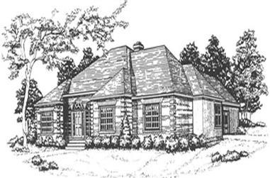 3-Bedroom, 2074 Sq Ft European Home Plan - 124-1099 - Main Exterior