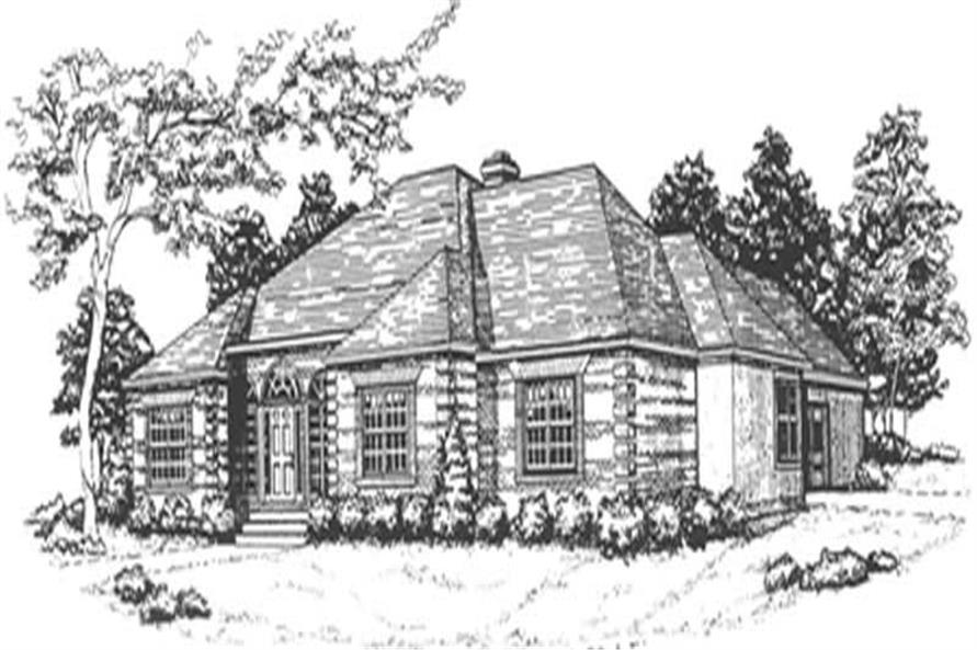 3-Bedroom, 2074 Sq Ft European Home Plan - 124-1099 - Main Exterior