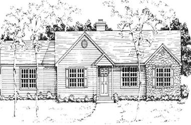 3-Bedroom, 1224 Sq Ft Ranch Home Plan - 124-1104 - Main Exterior