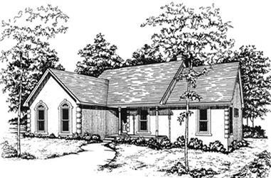 3-Bedroom, 1499 Sq Ft Ranch Home Plan - 124-1109 - Main Exterior