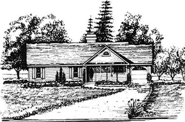 3-Bedroom, 1284 Sq Ft Ranch Home Plan - 124-1110 - Main Exterior