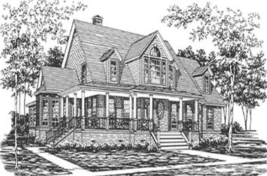 4-Bedroom, 3100 Sq Ft Country House Plan - 124-1111 - Front Exterior