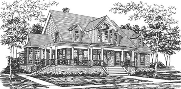 Main image for house plan # 7492
