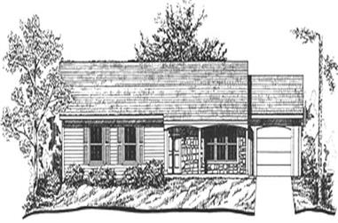 3-Bedroom, 1175 Sq Ft Ranch House Plan - 124-1113 - Front Exterior