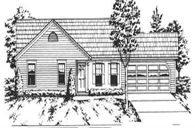 3-Bedroom, 1368 Sq Ft Ranch Home Plan - 124-1114 - Main Exterior