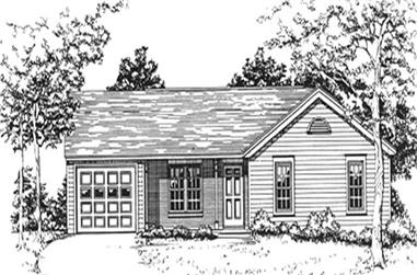 2-Bedroom, 1355 Sq Ft Ranch Home Plan - 124-1115 - Main Exterior