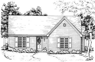 3-Bedroom, 1389 Sq Ft Ranch Home Plan - 124-1116 - Main Exterior