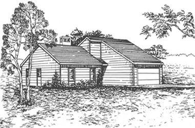3-Bedroom, 1430 Sq Ft Ranch Home Plan - 124-1117 - Main Exterior