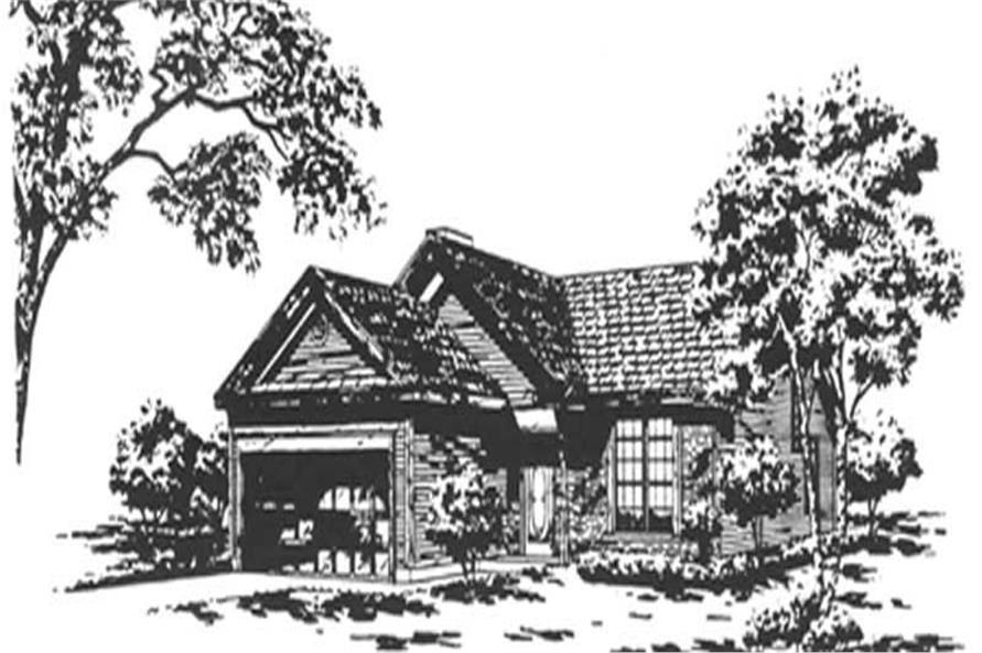 2-Bedroom, 1421 Sq Ft Ranch Home Plan - 124-1118 - Main Exterior