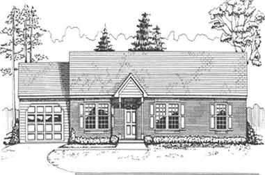 3-Bedroom, 1260 Sq Ft Ranch Home Plan - 124-1119 - Main Exterior