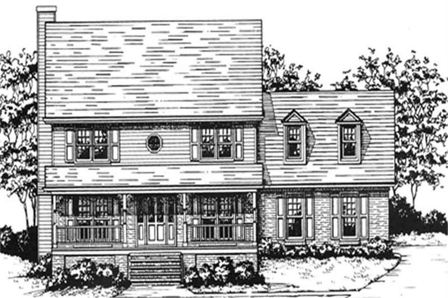3-Bedroom, 2442 Sq Ft Country House Plan - 124-1120 - Front Exterior