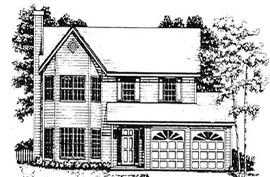 3-Bedroom, 1779 Sq Ft Country Home Plan - 124-1121 - Main Exterior